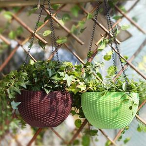 3 punti Garden Plant Flower Pot cestino cestino a sospensione catena con ganci giardino pianta gancio appendiabiti catene di fiori pentola di fiori DWF4837