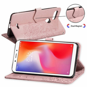 Imprint Flower Wallet Leather Case For Iphone 12 Mini Pro Max 11 XR XS MAX 8 7 6 Galaxy S20 Plus S10 Note 20 Ultra 10 Lace Holder Flip Cover