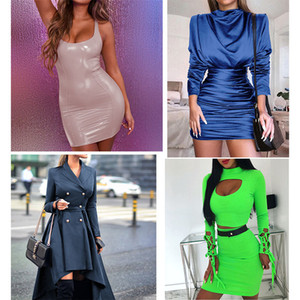 On Sale Clearance Fans Welfare Cheap Price Cloth Autumn Winter Dresses Women Ruched Sexy Club Party Bodycon Dress M666 Q1229