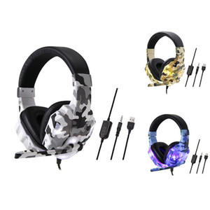 Wired Gaming Headset Led Light Headset for PS4 Switch Computer PC Bass Stereo Headphones with Microphone