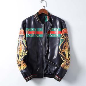 20ss para hombre de la chaqueta de cuero de imitación de piel chaquetas de moto primavera ropa otoño para Hombre Manga larga frescos de las capas de la chaqueta de solapa