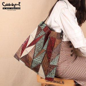 Handbag Top Leather Shoulder Tote Shopping Cowhide Fold Ladies Bag Women Messenger Crossbody Genuine Vintage Handle Bags Over Xmamc