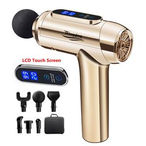 LCD Massage Gun Muscle Relaxation Massager Deep Tissue Electric Massager Fascial Gun For Head Neck Body Massagers
