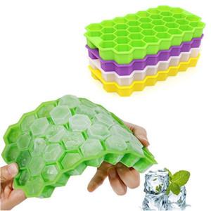 37 Cubes Ice Cube Tray Творческий стекируемые DIY Honeycomb Ice Cube Ray Mold Ice Cream Party Виски Cold Drink Bar Холодные напитки Инструменты AHD2645