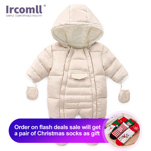 Ircomlow Yenidoğan Erkek Bebek Kız Kış Tulum Toddler Bebek Uzun Kollu Tulum Pamuk Bebek Kostüm Tarama Çocuk Giyim Maliyet LJ201023