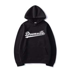 Dreamville Print Hip Hop Hoodies J Cole Fashion Streetwear Men Women Casual Hooded Sweatshirt Hoodie Sport Pullover Unisex Tops 201022