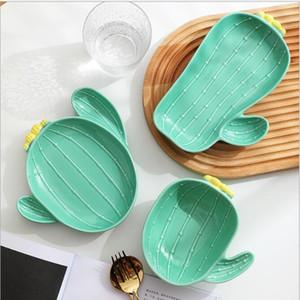 Cactus piatti giapponesi cartone animato cartone animato stoviglie in ceramica creativo adorabile famiglia colazione piatti per bambini piatti