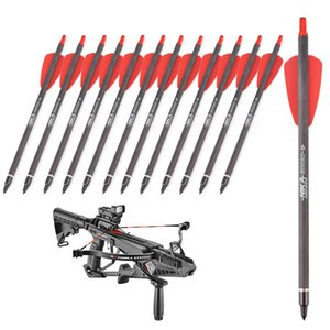 12 stücke 8,5 cm cobra serie crossbow jagd kohlenstoff arrow r9 kurze crossbow arrow j1224
