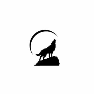 10.7 سنتيمتر * 12.7 سنتيمتر الذئب على صخرة الفينيل الأسود الفضة دراجة نارية سيارة ملصقا الشارات C13-000520