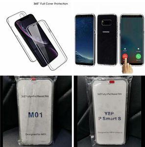 360 Degree Full Body Case For Samsung Galaxy M31S M01 S20 FE Huawei Y8P Xiaomi Redmi 9A Soft TPU PC Transparent Clear Phone Cover Fashion