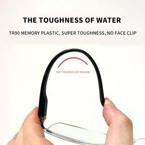 Retro Prescrição de E Mulheres NewAnti-Blu-Ray Reading Ultra Luz Metade dos homens de Rim Glasses +100 4002021 Para
