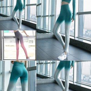 Тухва мода бесшовные трикотажные сетки женщин йога йога высокая талия спорт фитнес спиновые леггинсы быстрые брюки колготки подняты подтягивание