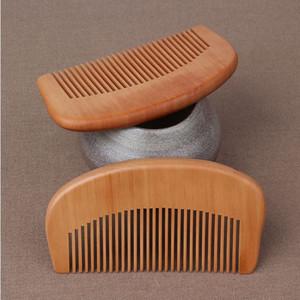 350pcs Combs Natural Peach Wooden Laser Comb Carven Beard Comb Pocket Comb Wedding Gift