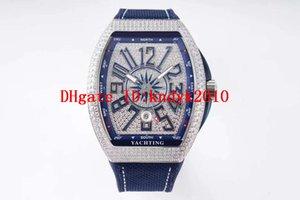 Vanguard Yachting V45 orologio di lusso in acciaio inox 316L in acciaio inox completo Diamante orologi da uomo svizzero 2824 automatico orologio da polso meccanico data zaffiro
