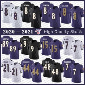 8 Lamar Jackson BaltimoreRaven Fußball-Jersey-89 Mark Andrews 9 Justin Tucker 15 Marquise Brown 44 Marlon Humphrey 7 Trace McSorley