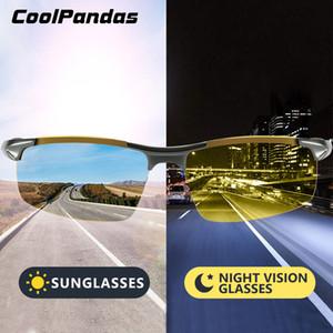 Coolpandas Marke Photochromic Sonnenbrille polarisierte Männer Day Night Vision Frauen Sicherheit Fahr Brille Oculos De Sol Gafas