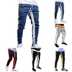 Hommes Joggers Pantalons simple fitness Vêtements de sport Survêtement Bottoms Skinny Sweatpants Pantalons Gymnases Noir Jogger Homme Pantalons