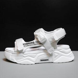 Fujin Женщины Сандалии Повседневная обувь Толстые Bottom дышащий дамы 2020 Слайды моды платформы обувь Женская Летняя Сандалии