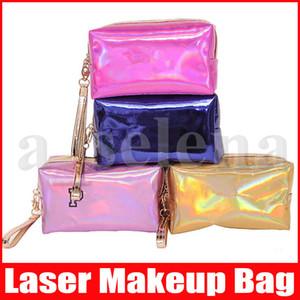 6 colores Láser de maquillaje cosmético del bolso carta holograma cosmético compone el bolso bolsas de gran capacidad de almacenamiento a prueba de agua de lavado Tolitery bolsa