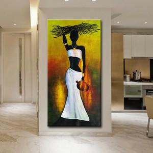 Açık Tuval Wall Art Canvas Resimleri ER15.20112 boyama Afrikalı Kadınlar Çerçeveli Çerçevesiz Büyük Ev Dekorasyonu Handpainted HD Baskı Yağ