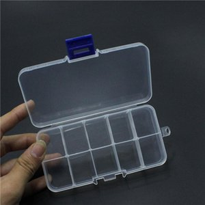 10 Gird Removable Jewelry Boxes Plastic Home Storage Organizer Cosmetic Boxes Cases Pill Box