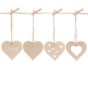 Wood Heart Pendant Cutout Laser Cut Wood Ornament 5 .3x5 .6cm Heart Pendant Blanks Craft Design Party Decor
