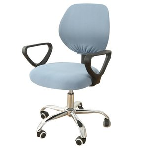 Dividir Escritório Computador Cadeira Coberta Spandex estiramento poliéster Universal Desk Tarefa Seat Covers estiramento Rotating cadeira Slipcover D30