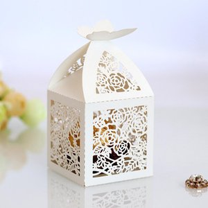 Wedding Favor Boxes Candy Bags Gifts Boxes Favor Holders Bridal Birthday Hollow Paper Box Rectangle Country Beach Wedding Gifts Souvenirs