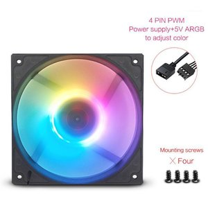 FANNER B120 ARGB fans colorful silent LED Computer Case CPU Cooling fan with 120mm 4pin PC Computer Water cooled radiator fan1