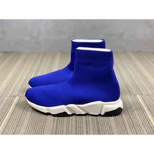Erkek Çorap Ayakkabı Paris Üçlü Mavi Hız Runner Sneakers Siyah Kırmızı Çorap Çizme Kadınlar Casual Antrenör Bayan Tasarımcı Ayakkabı