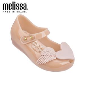 Mini melissa amor asas menina geléia sapatos sandálias 2020 sapatos de bebê melissa sandálias antiderrapantes sandálias meninas zandalias crianças sapatos q0112