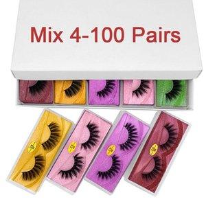 3d Faux Mink Lashes Wholesale 10 20 30 50 100 Pairs Fluffy Natural False Eyelashes with Packaging Vegan Makeup Lash Lift In Bulk