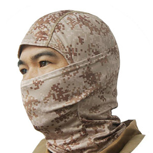 Army Tactical Camouflage Balaclava Outdoor Full Face Mask Hunting Hiking Cycling Sports Helmet Liner Cap Camo Bandana