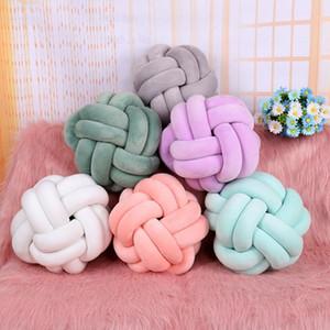 2020New 1 adet 20 cm 11 renkler yumuşak düğüm topu yastıkları yatak doldurulmuş yastık ev dekor yastık topu peluş atmak evrensel yüksek kaliteli Y1222