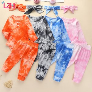 LZH Autumn Winter Newborn Baby Clothes Romper+Trousers 3Pcs Suit Casual Infant Clothing Boys Set Baby Girl Clothes 0-3 Year 201027