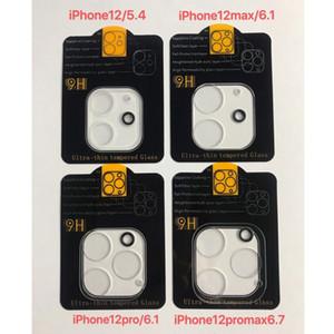 iPhone 3D transparente Risco-resistente Rear Camera Lens Protector de protecção de vidro temperado Com Flash Circle Para 12 mini-11 Pro Max