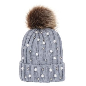 Newborn Baby Boy Girls lovely kintted Pompon Beanies Winter Caps Warm Fur Pom sequins Knit Beanie Hat fleece crochet Caps