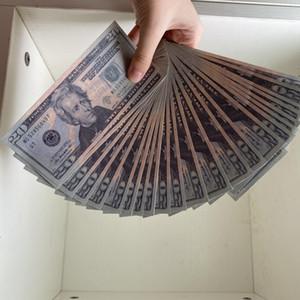 Usd Realistische Amerikaner Pretend Geld 20 Dollar Bills Fälschungsfilm Geld Gefälligkeit Frank Toys Prop 100 PCs / Packung