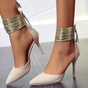 New 2021 Women Sandals Ankle High Thin Heels Pointed Toe Lace-up Party Wedding Design Summer Women Shoes