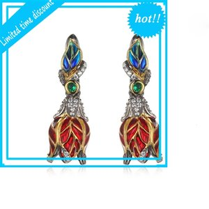 925 silver plated green spinel Earrings design jewelry
