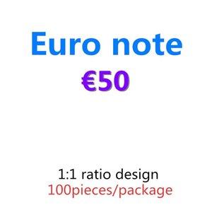 Kopieren Sie Geld und Bar-Requisite-Prop-Prop 50 Euro Geldpapier-Film-Banknote Pretend 06 100pcs / paket Best Oaelh