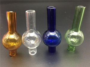Colored glass Bubble Carb Cap Hat Style Dome for Quartz Thermal P Banger Nails Dabber Glass Bongs Dab Oil Rigs