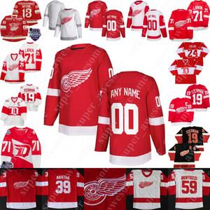 Detroit Red Wings Jersey Dylan Larkin C Anthony Mantha Tyler Bertuzzi Frans Nielsen Luke Glending Filip Zadina Bobby Ryan Jonathan Bernier