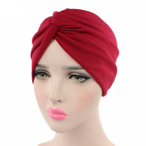 Solid Color Cotton Head Scarf For Women Muslim Jersey Cap Female Turban Africa Wrap Bonnet Islamic Clothing Accessories New