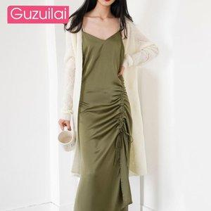 Guzuilai Горячая распродажа осень 2021 новый светлый зрелый свитер пальто женщин весна и осень штабелированные мохэр вязаные кардиганские женщины1