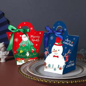 La víspera de Navidad grande de la caja de regalo de Santa Hada Papercard que Kraft partido presente Favor Actividad Box Rojo Blanco