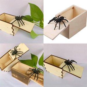 9.5 * 6.5 * 6CM Scatole di ragno Play Joke Silicone darti una sorpresa scherzo nascosto piccolo scatola di legno giocattolo regalo spaticoBox fabbrica diretta 3 5by m2