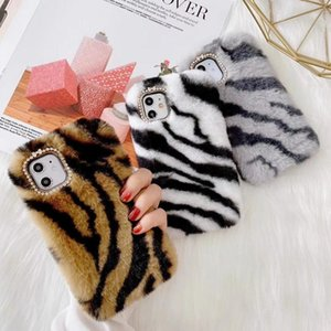 Fashion Leopard print super-sexy Fur Phone Case For iPhone 12 mini iphone 11 pro max XR XS MAX IPHONE 7 8 6 Plus