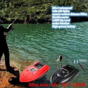 intelligent Remote Control Bait Boat with LED lights Lure Fishing Automatic correction of yaw cruise function 1.5KG big Load