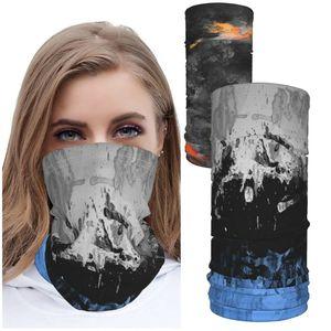 Balaclava Neck Gaiter Reusable Cloth Face Masks Washable Bandana Face Mask Sun Dust Protection Cover Scarf Shield 2pcs